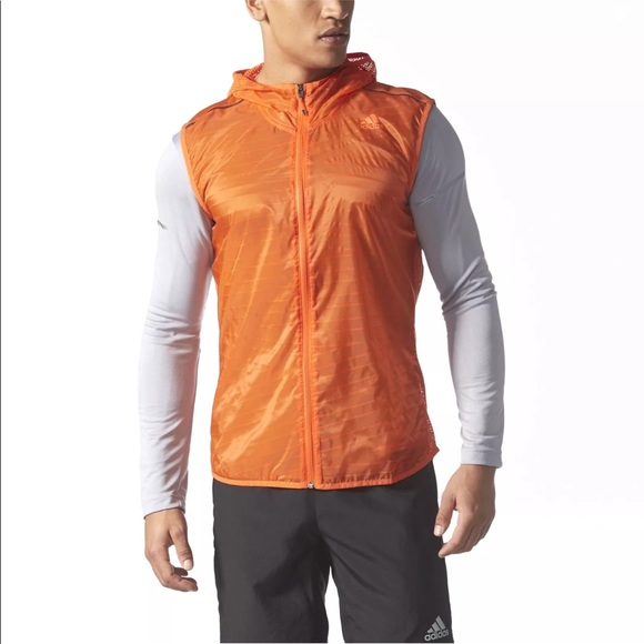 ff82500db Adidas Supernova TKO Flock Running Vest Orange